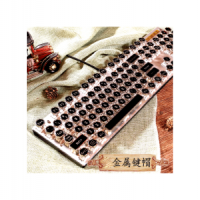 DIY Steampunk Cable Machinery Keyboard Green Axis Retro-typewriter Metal Seven-color Game Individual